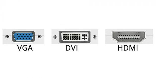 Как подключить компьютер к телевизору через кабель: виды портов
